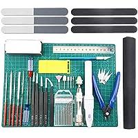 Camisin 33 Piezas Kit de Herramientas BáSicas de Modelador Conjunto Artesanal Kit de ConstruccióN AficióN para Gundam Edificio Modelo de Coche ReparacióN y FijacióN