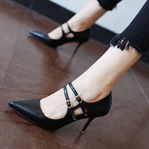 FLYRCX Primavera e autunno in stile Europeo, elegante personalità, tacco alto scarpe, parte scarpe scarpe da lavoro a