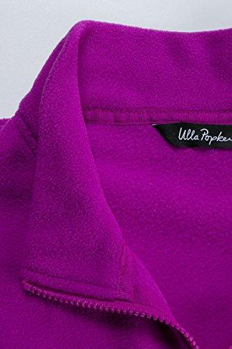 Ulla Popken Femme Grandes tailles Veste sweat-shirt et fermeture Éclair Polaire 702831 baies clair