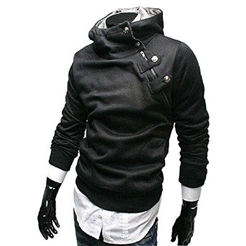 Sichyuan SchrägReißverschluss Kaninchenplüsch Kapuzenpullove herrenr,HoheQualit Langarmshirt sports hoodie für Männer. (Einfach Schlanker Mann Kostüm)