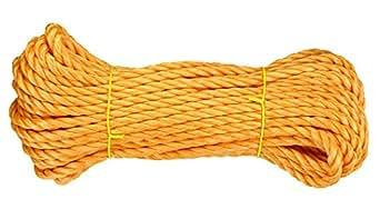 Connex DY2701301 Mehrzweckleine/Bootsleine, 8.0 mm x 20 m nach EN699 gefertigt, belastbar bis 130 kg, orange