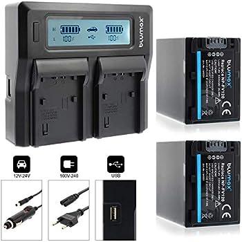 Dual Ladegerät + 2 Akku für SONY NP FV50: : Elektronik