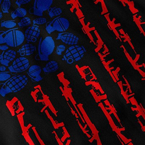 Amerika Flagge Granate USA Damen S-2XL Muskelshirt | Wellcoda Black