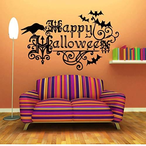 Abnehmbare Halloween Festival Party Dekoration Wandaufkleber Shop Tür Aufkleber Glasfenster Poster Tapete Aufkleber Dekor