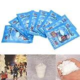 Happysea 2Pack (16G/0,56oz) Künstliche Sofort Schnee Flauschig Super saugstarker Dekorationen Weihnachten Hochzeit
