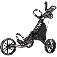 Caddytek EZ-Fold Trolley de Empuje de Golf de 3 Ruedas (Negro)