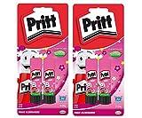 Pritt Lot de 2 bâtons de Colle 20 g 4X 20g Pink