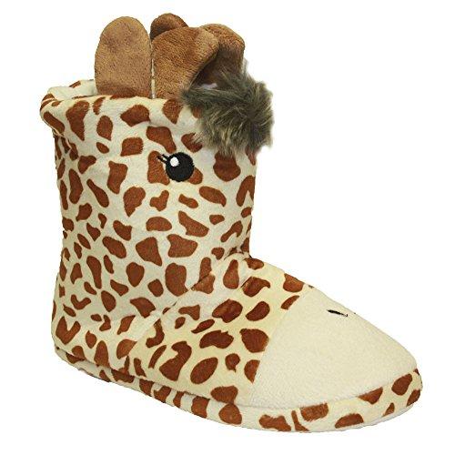 Socks Uwear�  Slumberzzz,  Mädchen Durchgängies Plateau Sandalen mit Keilabsatz Giraff Design