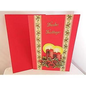3D Weihnachtskarte Frohe Festtage Handmade