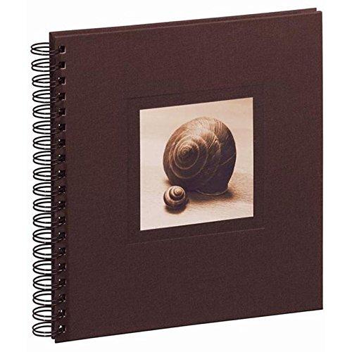 Pagna 12169-11 Spiralalbum Nature/Schnecken, 240 x 250 mm, Leineneinband mit Karte, 50 Seiten schwarzer Fotokarton