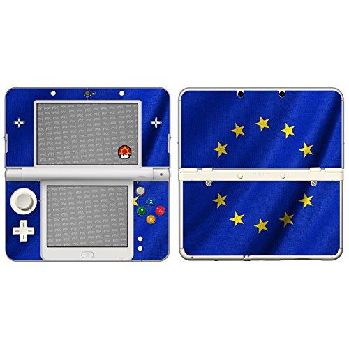 atFoliX Designfolie kompatibel mit Nintendo New 3DS Europäische Union Flagge Skin Aufkleber