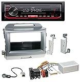 caraudio24 JVC KD-X262 1DIN MP3 USB AUX Autoradio für Kia Sportage 3 (ab 10 Navi) Silber