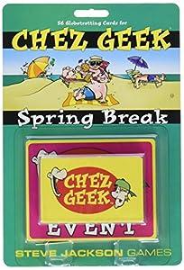 Steve Jackson Games sjg01384-Juego de Cartas Chez Geek: Spring Break