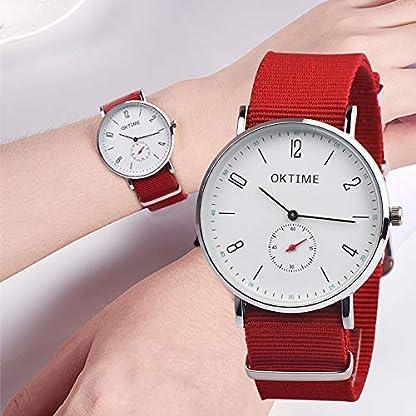 RainBabe-Armbanduhr-Frauen-Mnner-Analoge-Wasserdichte-Nylonband-Quarzuhr-fr-Damen-Herren-Unisex