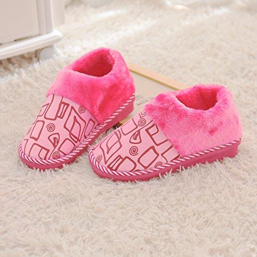Imbottito Evidenziarsi Inverno Pantofole Laxba Uomini Scarpe Nelle Donne Felpa Pantofola Dovessero Cotone Rosa Di Caldo AXqPxFnwS