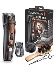 Remington MB4045 Coffret Rasage Beard Kit, Tondeuse Barbe, Lames Titanium Auto-Affûtées, Sabots Ajustables, Batterie Lithium