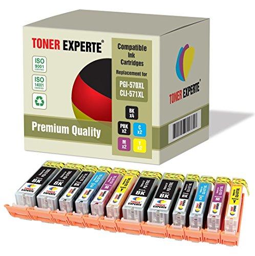 Preisvergleich Produktbild 12 XL TONER EXPERTE® PGI-570XL / CLI-571XL Druckerpatronen kompatibel für Canon Pixma MG5750, MG5751, MG5752, MG5753, MG6850, MG6851, MG6852, MG6853, MG7750, MG7751, MG7752, MG7753, TS5050, TS5051, TS5053, TS5055, TS6050, TS6051, TS6052, TS8050, TS8051, TS8052, TS8053, TS9050, TS9055