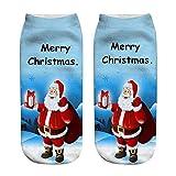 LHWY Weihnachtsstrümpfe für Damen Unisex Weihnachten Socken Teen Mädchen Funny 3D Fashion Casual Socken Gedruckt Niedliche Low Cut Söckchen (J)