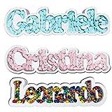 ocballoons Portaconfetti Polistirolo Personalizzabile Nome Scritta Sagome confettata Nomi Contenitore Caramelle Confetti Personalizzato (8 12 Lettere)