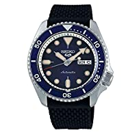 سيكو 5 فيس ليفت، مقاومة للماء 10 بار، تقويم، ميناء أزرق،  ساعة رجالي