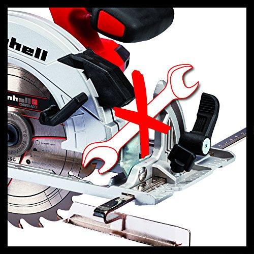Einhell Akku-Handkreissäge TE-CS 18/165 Li-Solo Power X-Change (Li-Ion, max. Schnitttiefe 54mm, werkzeuglose Einstellung von Schnitttiefe + Neigungswinkel, Spindelarretierung, ohne Akku und Ladegerät) - 2