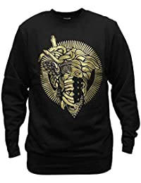 81280fb9b44 Crooks   Castles 2 Faced Medusa Sweatshirt Black