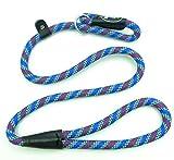 Retrieverleine Halsband und Leine in Einem Hundeleine Verstellbare Trainingsleine Führleine Moxonleine Übungsleine für Hunde Mehrfarbig Blau