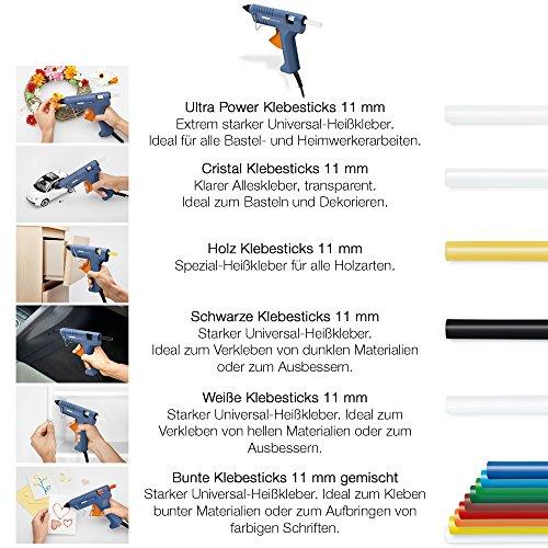 Steinel Heißklebe-Pistole Gluematic 3002, Förderleistung 16 g/min, Inkl. 3 Klebesticks 11 mm, zum Basteln und Reparieren