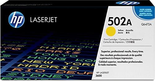 HP 502A (Q6472A) Gelb Original Toner für HP Color Laserjet 3600