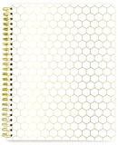 Webster's Pages Spiral Ntbk - Gold Honeycomb Lined (SB004)