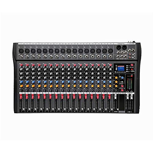 DJ controller Professione Powered Mixer a 16 canali Mixer Stage Performance karaoke con USB Bluetooth riverbero Monitor Professional / SD Card Tuner supporto USB a 16 canali All-In-One controller DJ p