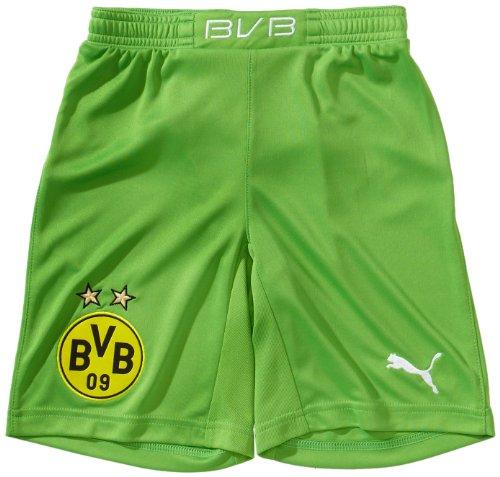 PUMA Kinder Hose BVB GK Shorts, classic green-dark gray heather, 152