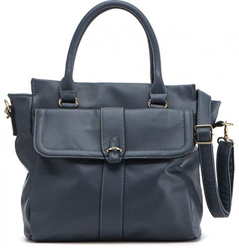Masquenada, Damen Handtaschen, Shopper, Tote-Bags, Henkeltaschen, 27x26,5x12cm (B x H x T), Farbe:Navy (Dunkelblau) -