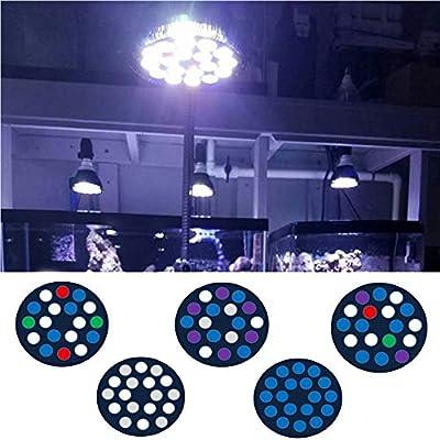 YJDSZD 54W Plein Spectre Aquarium Lumières LED E27 Récif De Corail Usine Utilisée Cultiver La Lampe pour Sump Algues Corail Récifs De Poisson