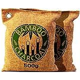 Decentgadget® 500g Bolsa de purificación de aire de carbón de bambú natural del carbón de leña natural desodorante ambientador de aire puede liberar minerales naturales(500G charcoal bag) (500g)