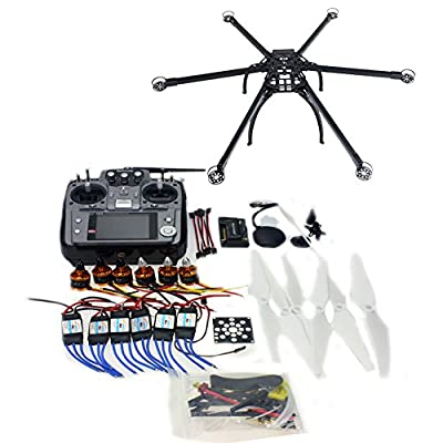 Qwinout DIY FPV Drone Multicopter ARF Unassembly Kit : Hexacopter + APM 2.8 Flight Controller + GPS + AT1010CH TX&RX (No Battery and Charger) from QWinOut