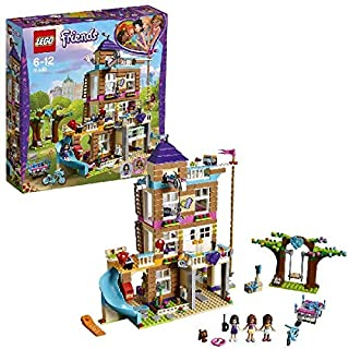 LEGO 41340 Friends Heartlake Friendship House Building Set, Olivia Emma and Andrea Mini Dolls, Doll House Build and Play Fun Toy