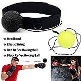 Xnature Boxen Training Ball Reflex Fightball Speed Fitness Punch Boxing Ball mit Kopfband, Trainingsgerät Speedball für Boxtraining Zuhause und Outdoor (Schwarz + Grün)