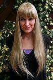 Wig me up Perücke EISPRINZESSIN blond lang PONY femme fatal 3113-24
