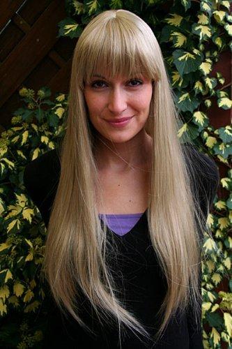 Perücke EISPRINZESSIN blond lang PONY femme fatal (Femme Fatale Perücke)