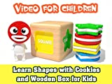 Learn Shapes with Cookies and Wooden Box for Kids