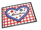 Fußmatte Florhöhe 7 mm aus Polypropylen mehrfarbig Motiv München Maße wählbar, Größe:40 x 60 cm