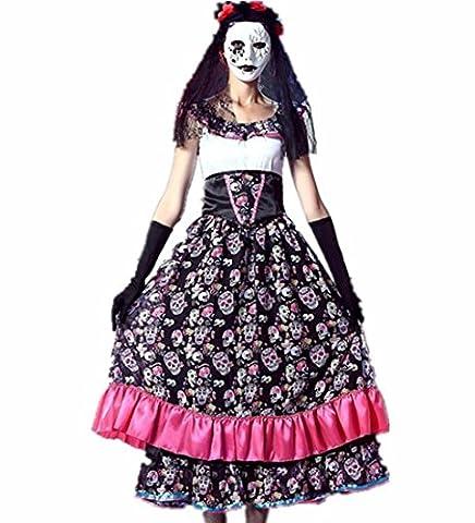 HZHF la tête du crâne des femmes d'impression Zombie Ghost