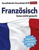 Sprachkalender - Französisch lernen leicht gemacht - Kalender 2018 - Harenberg-Verlag - Tagesabreißkalender - 12,5 cm x 16 cm