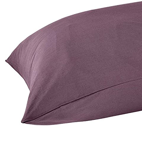 Homescapes Egyptian Cotton Grape Body Pillow Case 100% Cotton 200 Thread Count Percale for Maternity/ Pregnancy