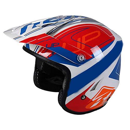 L&WB Helm Klettern Offroad-Helm Motorradhelm Vollwand Gesicht Four Seasons Universal,F,L(59cm~60cm)