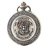 Harry Potter Reloj a Bolsillo Hogwarts–poudlard- Estilo Antiguo con Bolsa de Terciopelo Y3