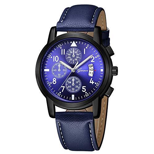 YULINGSTYLE Jungen- und Mädchenuhren Luxuslederarmband-Datums-analoge Quarz-Diamant-Armbanduhr der neuen Art- und WeisemännerDie neuesten 2019
