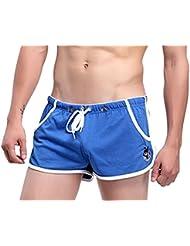 Demarkt Hommes Pantalon Court de Sport Short de Bain Boxer 5 Couleur Vert Gris Bleu Rouge Blanc avec 3 Taille