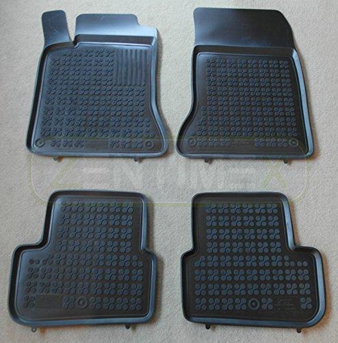 ZentimeX Z744380 Schalenmatten fahrzeugspezifisch mit Anti-Rutsch-Noppen (Durchmesser circa 18mm) schwarz